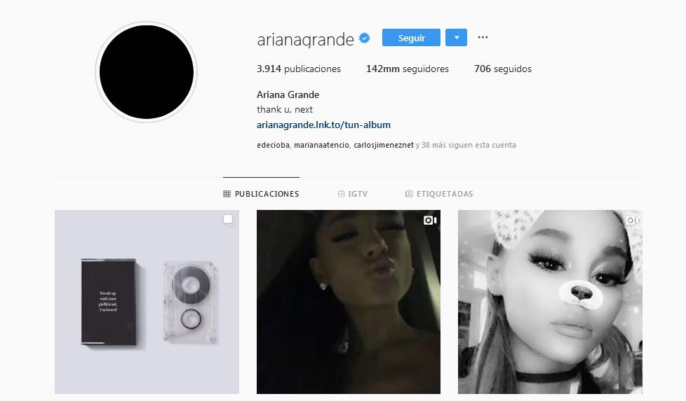 Ariana Grande perdió 3 millones de seguidores en Instagram en una noche